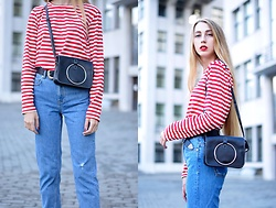 Lisa - Top, Bag, My Blog - Red striped