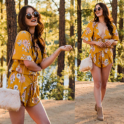 Shelly Stuckman - Charlotte Russe Bag, Charlotte Russe Shorts, Charlotte Russe Boots, Charlotte Russe Necklace, Chloé Similar Sunnies - Golden Hour