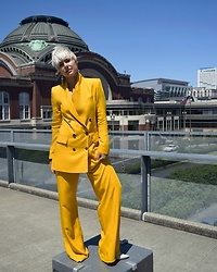 Rebecca L - Zara Yellow Suit - Well Suited