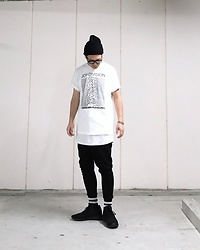 ★masaki★ - H&M Watch Cap, Joy Division Unknown Pleasure, Asos Dropcrotch, Adidas Tubler - Trash style 183