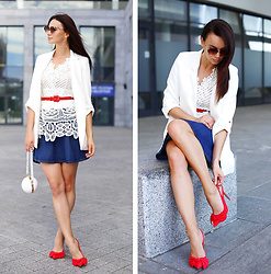 Anna Mour ♥ - Zaful White Crochet Top - Shoesaholic