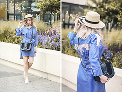 Margarita Maslova - Pimkie Hat, Zara Striped Dress, See By Chloé Bag Hana - SUMMER MOMENTS