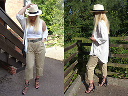Alice Liddell - H&M Chinos, Very Sandals - Safari