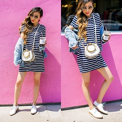 Sasa Zoe - Only $35 Dress, Shoes, Sunglasses, Bag - STRIPED IN LA LA LAND