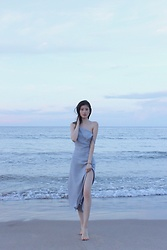 Chieh C - Third Form Reflection Cami Dress, Charriol Brilliant Bi Color Bangle - The beach ?