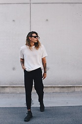 Richy Koll - Puma Sneakers, Lee Suitpants, Asos Shirt, Puma Sunglasses - PUMA x richywho