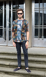 Jordi - Dries Van Noten Camo Tee, H&M Jeans, H&M Boot Shoes - Camo