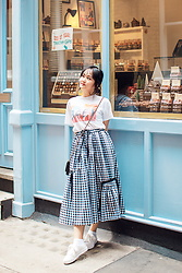 Ginny Le - Yves Saint Laurent T Shirt, D&F Skirt, Pull & Bear Big Lace Sneakers - Keep Positivity In Your Heart