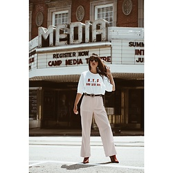 Ali D - Zara Oversized Text T Shirt, Free People Matterhorn Western Boot - N.Y.C Tee