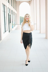Eleine Pereira -  - Lace-up skirt