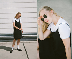 Christa Könönen - Ray Ban Sunglasses, Gucci Shoes, H&M Dress, Nike Socks - 2107 ig @chsnafu