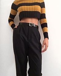Kat Smith - Zara Pants, Gap Belt, Forever 21 Cropped Sweater - Nightmare on Elm Street