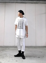 ★masaki★ - At.Couleur Casquette, Joy Division Unknown Pleusuers, Kill City Skinnyjeans, Adidas Slvr - Trash style 189