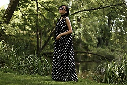 Ewa Macherowska - Banggod Dress, H&M Flats, New Yorker Scarf, C&A Sunglasses, Zaful Earrings - Polka Dots