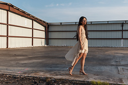 Jennifer S - Nasty Gal Dress, Zara Heels - Golden Hour Glow