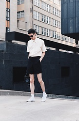 Nigel Lew - Superga Canvas Trainers, Karen Walker Sunnies - The Oreo Cookie
