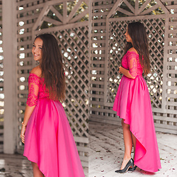 Gabriela Grębska - Flove Dress, Pull&Bear High Heels - Pink wedding dress