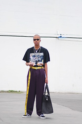 Dominic Grizzelle - Forever21 Lil Wayne Tee, Off White Industrial Belt, Ralph Lauren Oversized Trousers, Vans Old Skoolz - WEEZY F