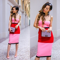 Sasa Zoe - Dress, Earrings, Sunglasses, Bag, Heels - THE MUST HAVE DRESS FROM NSALE