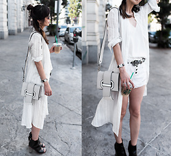 Helen @ mountainandcloud.com - Tibi Silk Cami, Topshop Shorts, B Low The Belt - Summer Whites
