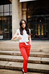 Ellen Lee - Orsay Red Trousers - Pop of red