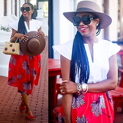 Monica Awe-Etuk - Straw Bag, Hat - AWED BY MONICA: EXPLORING THE BEACH TOWN IN EYELET AND PINK