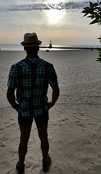 Thomas G - J. Crew Plaid Shirt, J. Crew Classic Twill Chino, Skechers On The Go, David And Young Stingy Brim Fedora, Kathy Osterman Beach ; Chicago Illinois, Facebook Page, Yelp - From sunrise to sunset to sunrise, ...