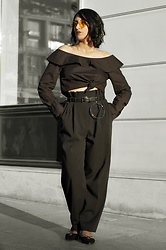 Ellone Andreea - Mango Ring Belt, H&M High Waisted Pants - The Evening Look