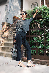 URBAN CREATIVI-TEA - Chanel Sunglasses, Pip Squeak Chapeau Top, Isabel Marant Belt, Topshop Jeans, Balenciaga Bag, Céline Shoes - Back To The Belt Outfit / urbancreativi-tea