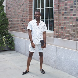 Willie Sparks - Life After Denim Shirt, Life After Denim Shorts, Gucci Slippers - Fashionably late
