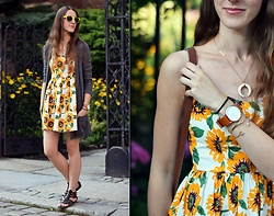 Ewa - Shein Summer Dress - Sunflowers
