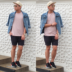 DADA FAB - Cotton On Cap, Uniqlo Denim Jacket, Asos Top, Zara Shorts, Adidas Nmd Shoes, Sunnies Studios Eyeglass - Denim Desire