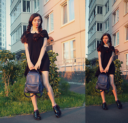 Anastassia Kalistova - H&M School Dress, Topshop Patent Leather Shoes - Back to school