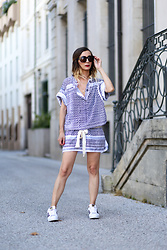 Lily Chelmey - Rough Studios Dress, Adidas Sneakers - Scarf Dress