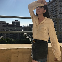 Camille Nichelini - Theory Blouse, Gucci Belt - End of Summer