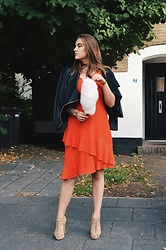 Odette - H&M Dress, Supertrash Heels, Cotton Candy - Red date dress