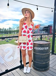 Sydney Hoffman - Shein Dress, Converse White Sneakers - Watermelon