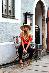 Ecaterina Rusu - H&M Hat, Asos Top, Zara Jeans, H&M Sandals - FOR A CLOUDY DAY