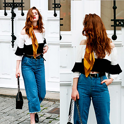 Martina L. - Shein Off The Shoulders Top, Zaful Culotte Jeans - THE CHIC WAY OF WEARING AN OFF THE SHOULDERS TOP