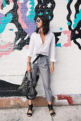 URBAN CREATIVI-TEA - Chanel Sunglasses, Marco Polo Shirt, Isabel Marant Belt, Hope Pants, Balenciaga Bag, Marsell Shoes - Bedford Babe & Minimalist Look / urbancreativi-tea