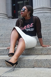 Christian Riley - Forever 21 Dare Crop Top, Zara Leather Skirt, Aldo Black Pumps - Double DARE