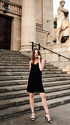 Alicja Szczepanska - Pull & Bear Black Lace Dress, Stradivarius Black Heels - OPERA