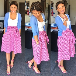Aylar - Zara Skirt, Zara Jacket, Zara Blousr, Zara Shoes - Pinkyyy mood?