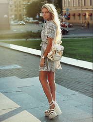 Ekaterina Normalnaya - Http://Sl Ira.Com/Ru/ Dress, Jeffrey Campbell Shoes Platform Sandals - ❤