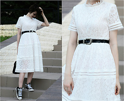 Malinina-ek - - Metisu Dress - White dress