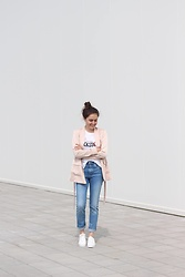 Marijana M - H&M Pink Blazer, H&M Blue Jeans, H&M White Sneakers - Working at H&M