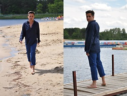 Pawel - Uniqlo Linen Shirt, Hugo Boss Trousers - Blue august...