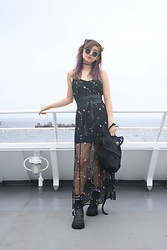 Chiemi Ito - Oribag Bag, Dolls Kill Dress, Unif Boots - Mesh