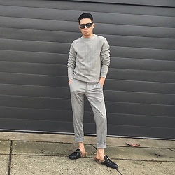 MARTAN . - Gucci Princetowns, Zara Sweater, Zara Pants, Retro Super Future Sunglasses - PURPOSE