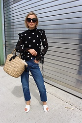 Anna Borisovna - H&M Shirt, H&M Jeans, Céline Shoes, H&M Bag - Polka Dots